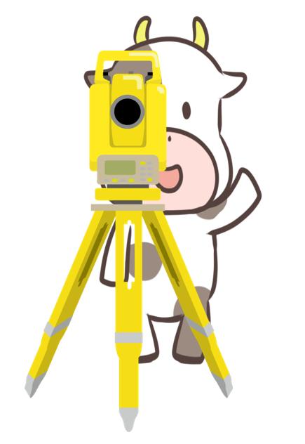 測量牛イラスト